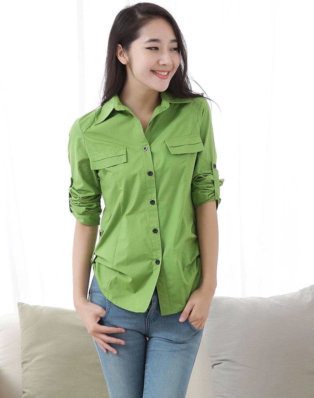 绿色女士衬衫