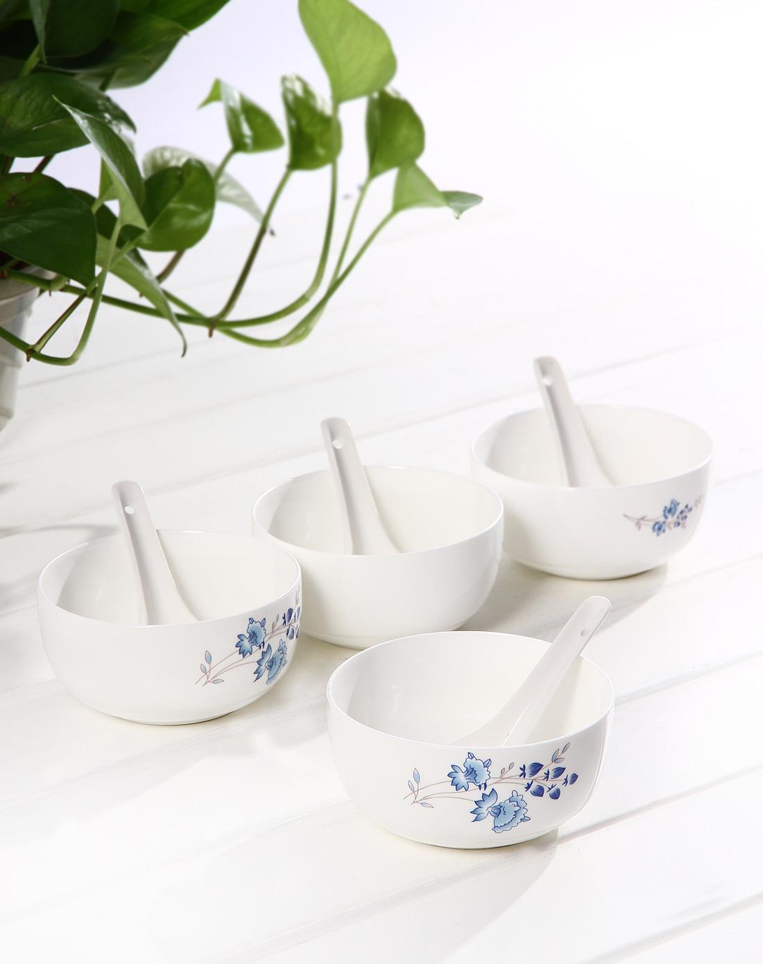 礼盒装蓝白色青花瓷餐具八件套