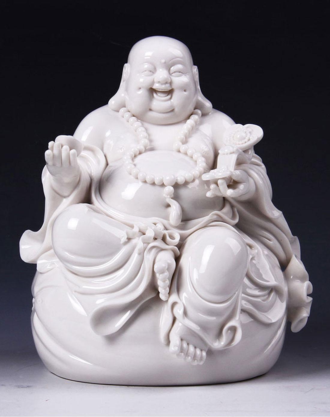 布袋弥勒佛陶瓷摆件陶瓷工艺品礼品家居摆件