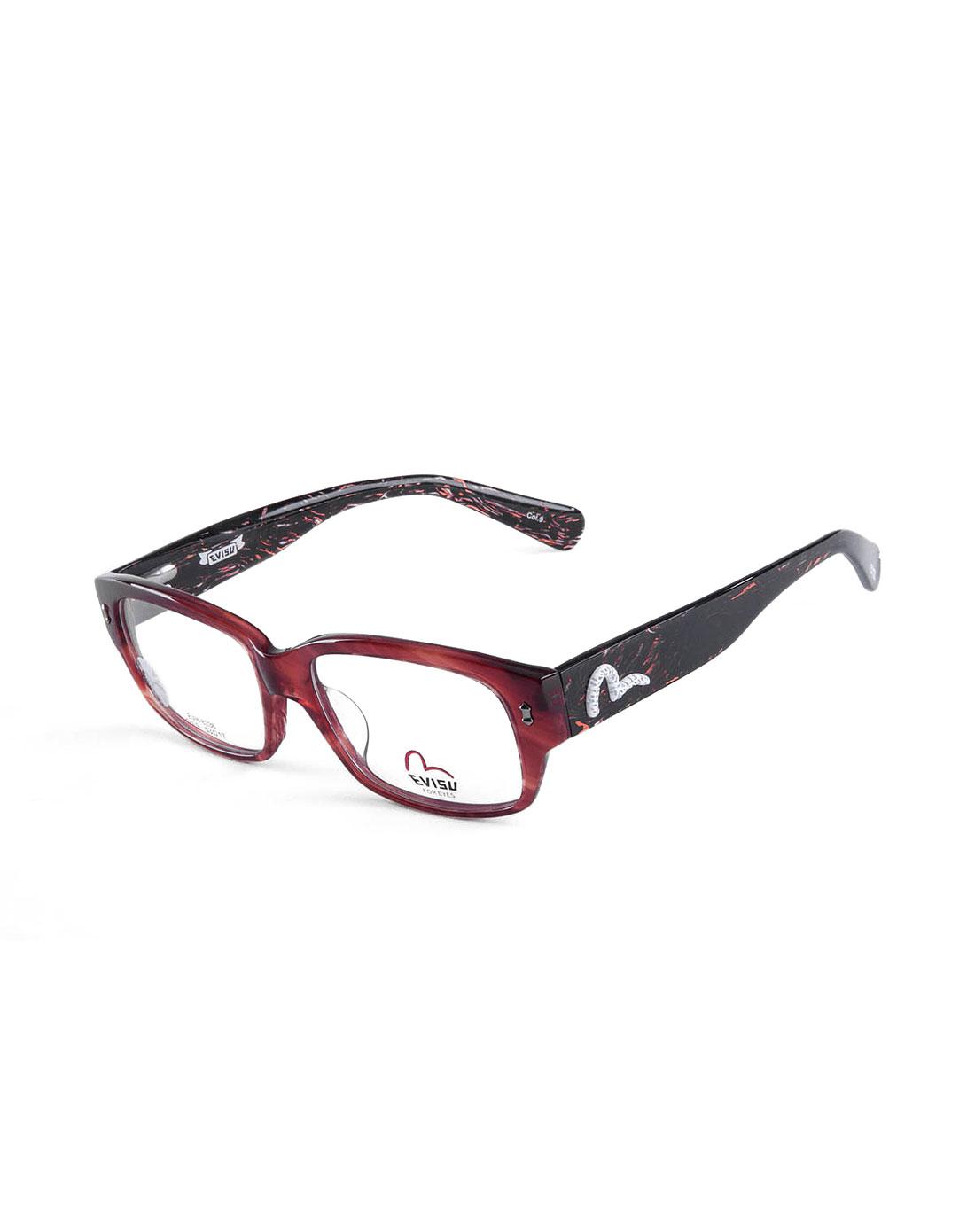 惠美寿evisu眼镜专场潮流边框红黑色全框眼镜evh