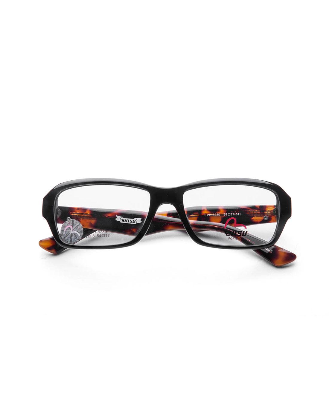 潮流边框豹纹色全框眼镜