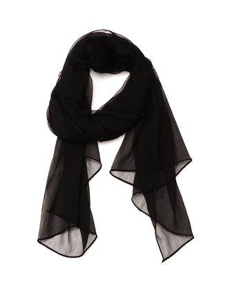 女款黑色纯色时尚优雅丝巾