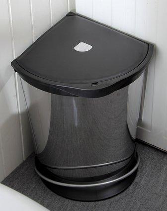 欧润哲orange家具18升墙角节省空间垃圾桶静音装置07