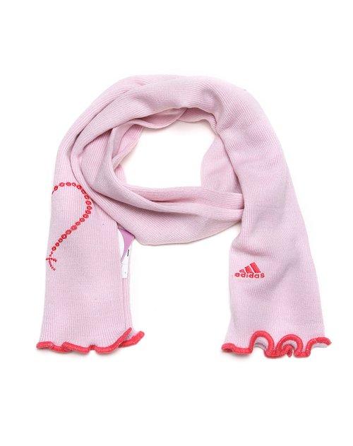 阿迪达斯 儿童粉色休闲保暖围巾
