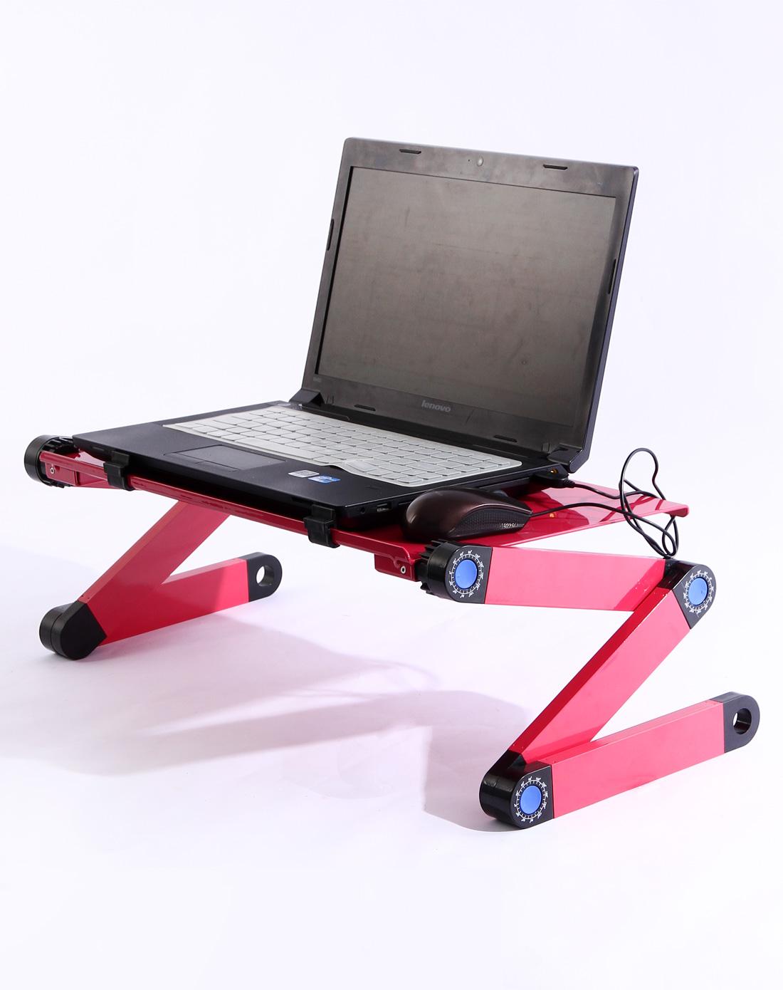 h&3 / 玫红色铝合金可调节散热电脑桌