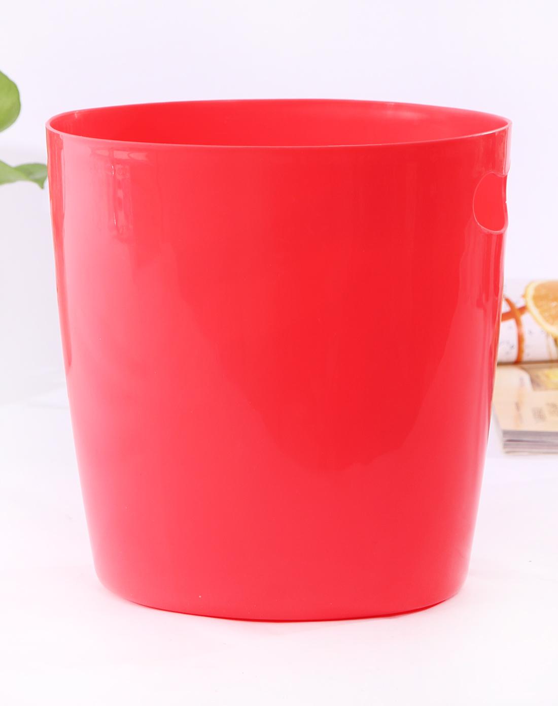 红色可爱笑脸桌面收纳桶