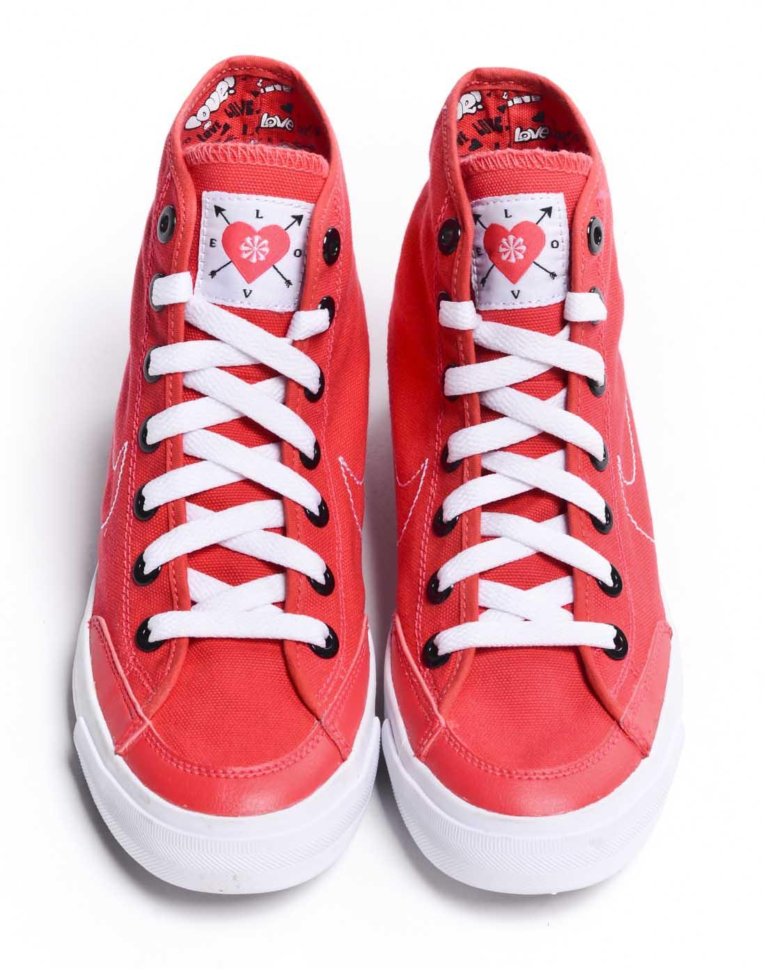 耐克nike-女子红色复古鞋434498-662