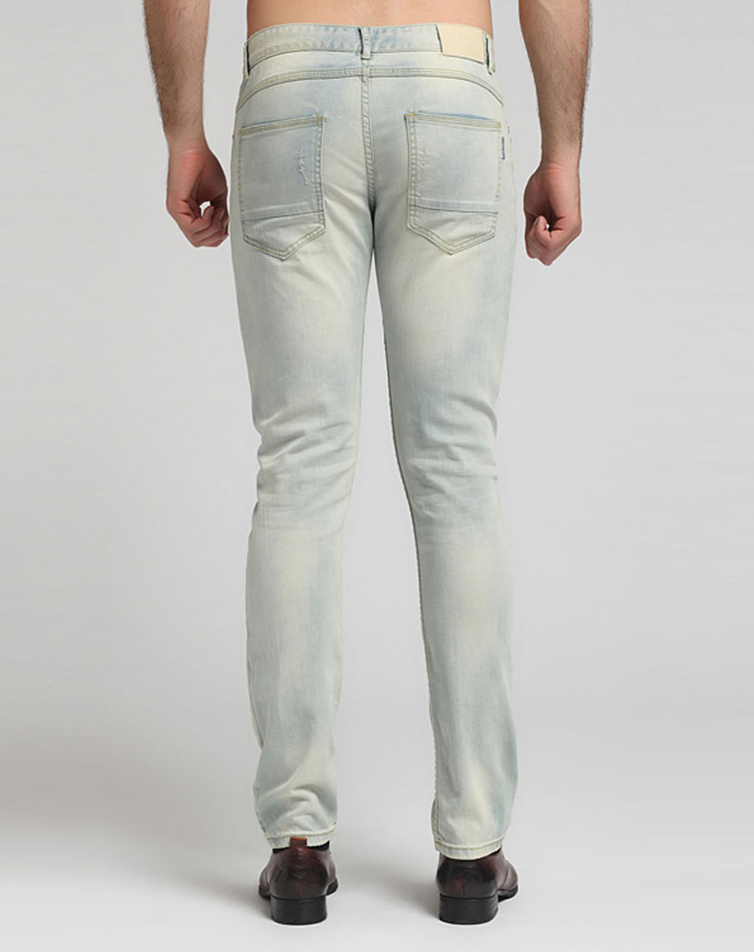 jeans男女装经典水洗男款窄脚牛仔裤