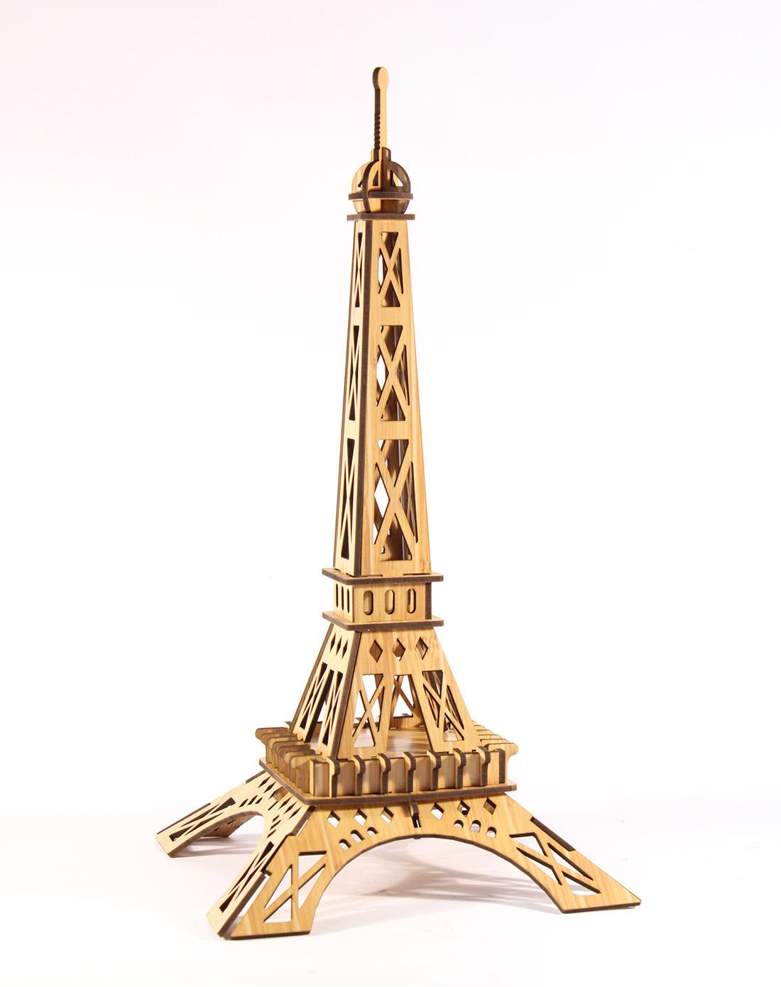 diy木制拼图法国巴黎铁塔(豪华版)