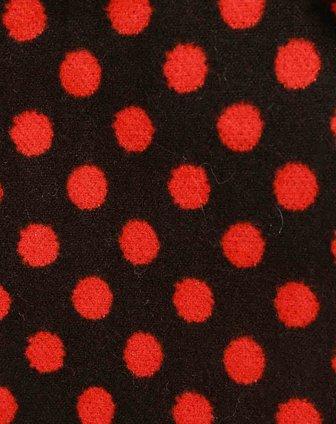 红色/黑色小圆点开衫
