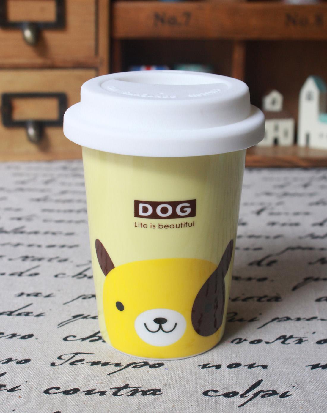 个性陶瓷卡通动物水杯(小狗)