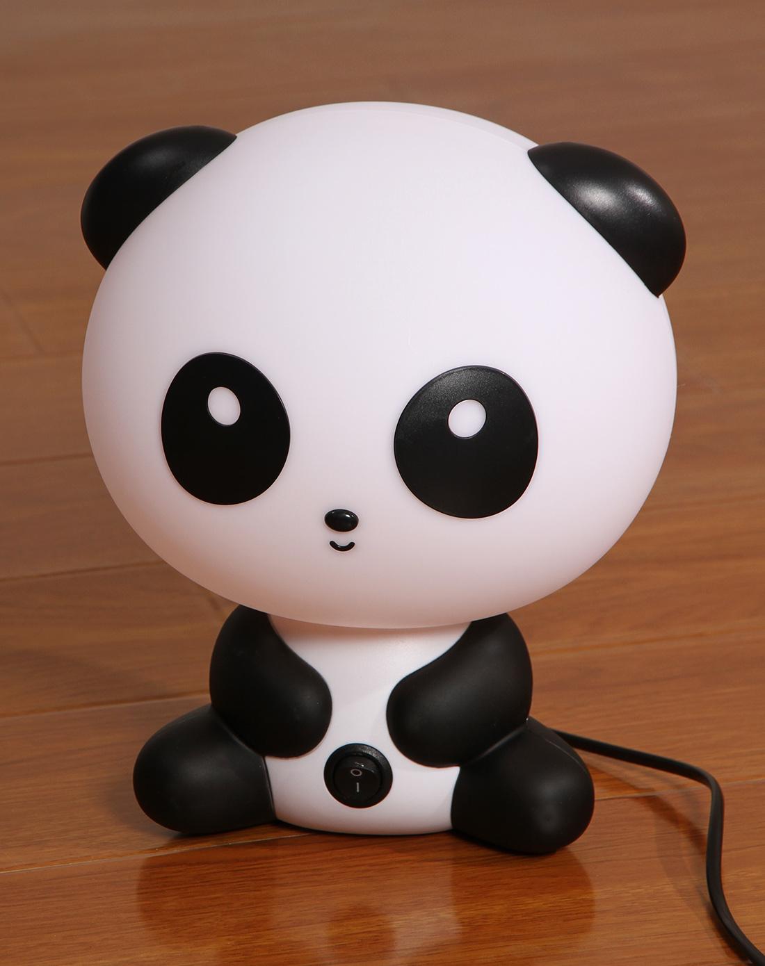 白黑色可爱熊猫台灯