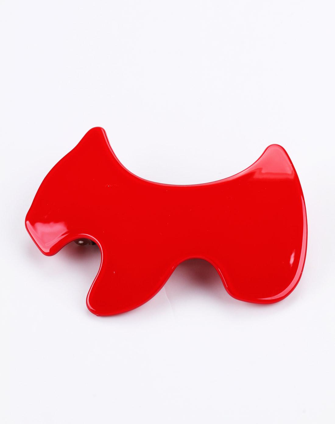 正红色可爱小狗发夹
