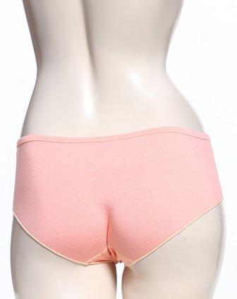 年轻女孩可爱粉橙红色三角内裤