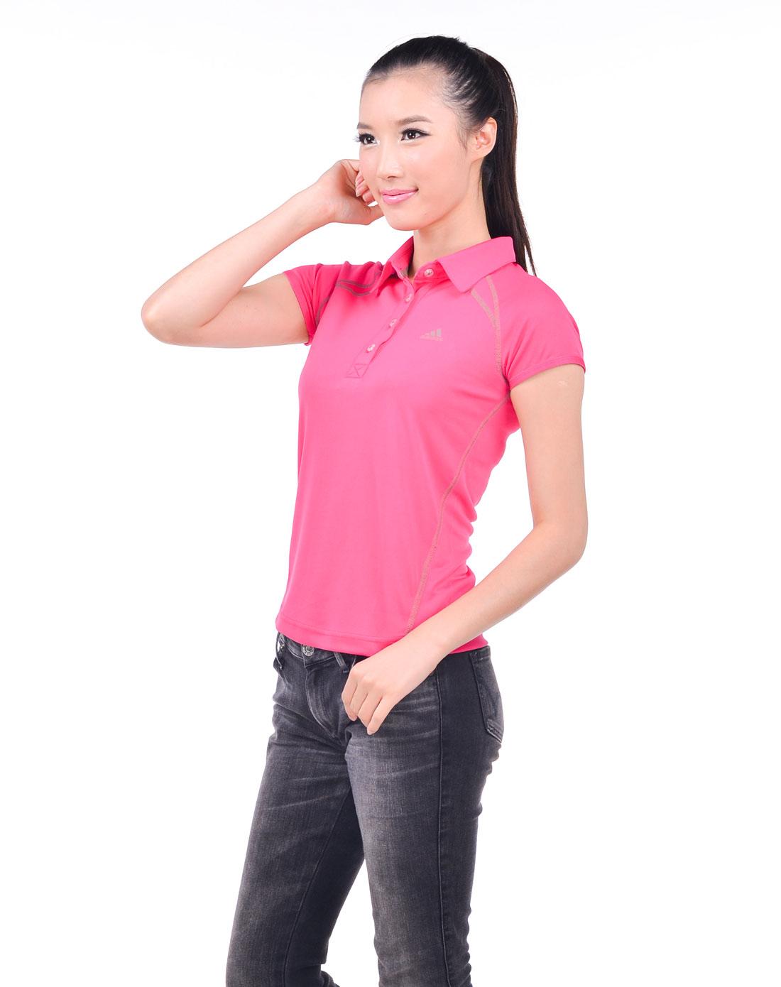 惠粉红_最后约惠-女人我最大专场-女子粉红色短袖polo衫