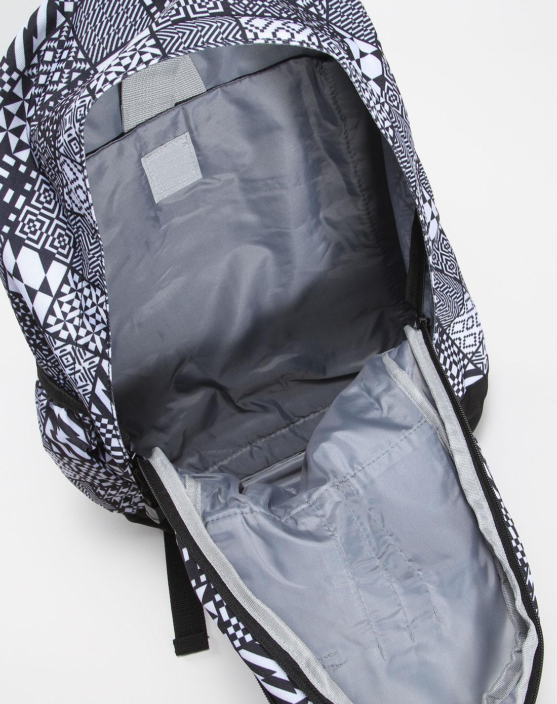 时尚格子黑白色背包