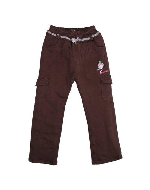 麻希玛柔 女童咖啡针织长裤
