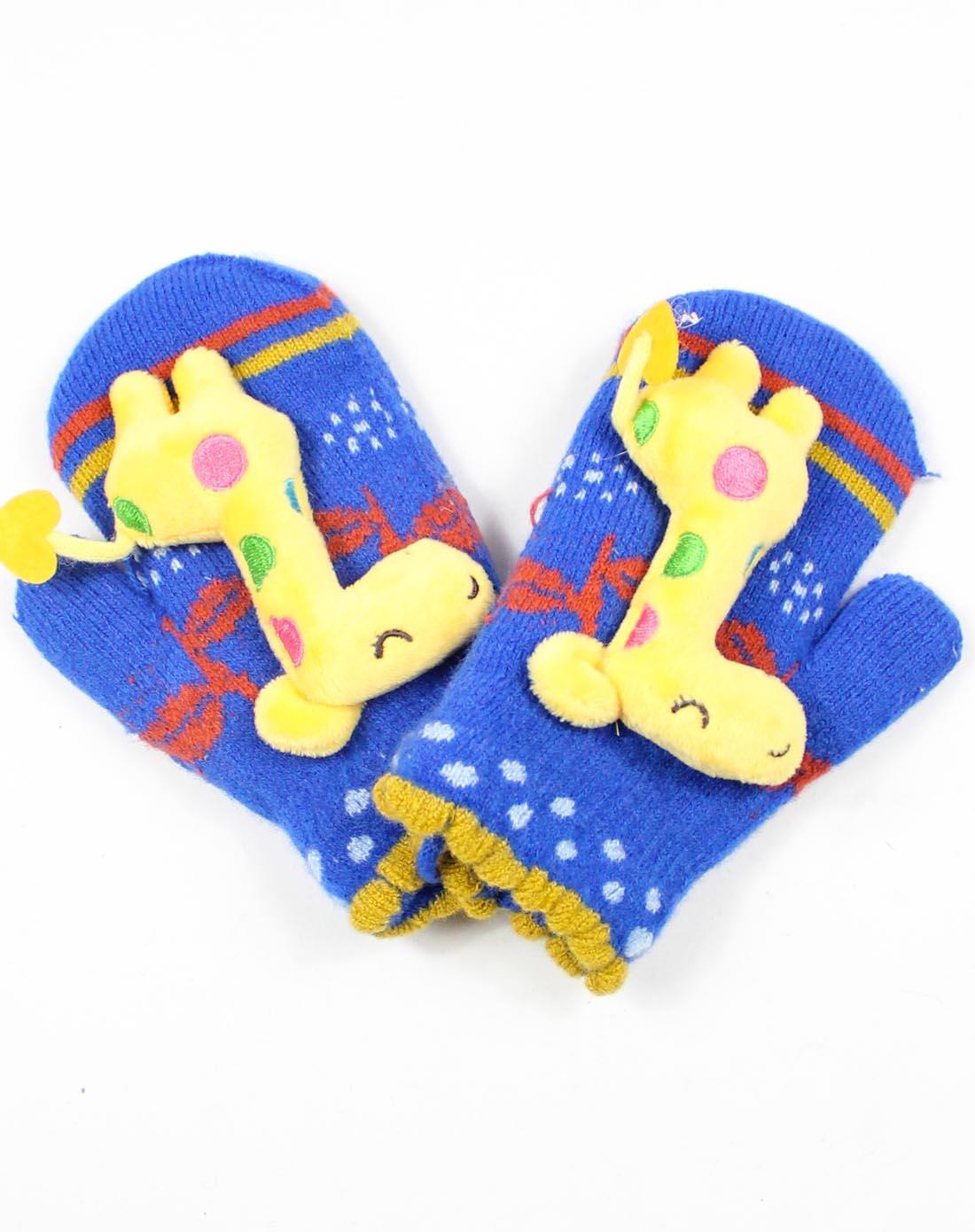 儿童蓝色卡通手套