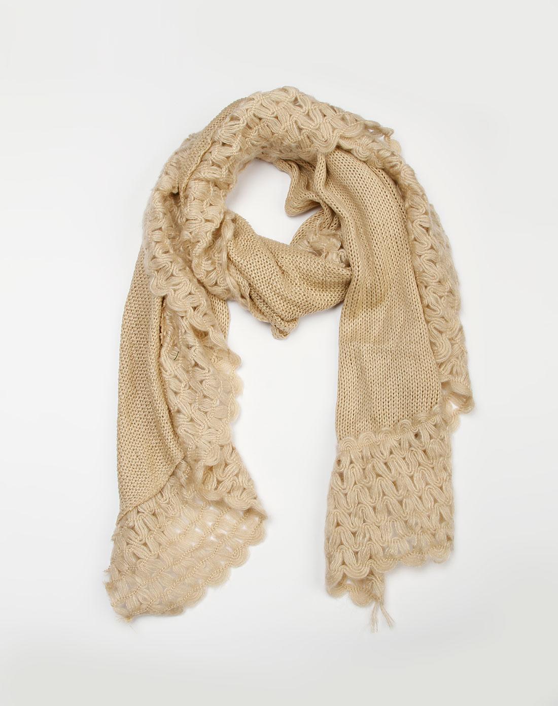 奥美嘉米色围巾029022
