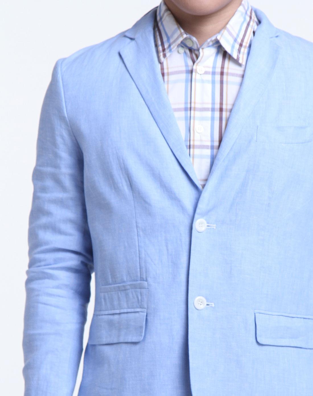 rooster男女混合装专场男款天蓝色休闲长袖西装a