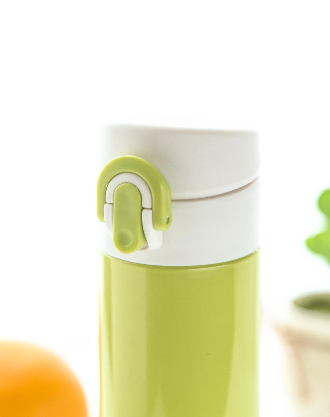 350ml不锈钢弹力设计杯盖保温杯—若竹绿