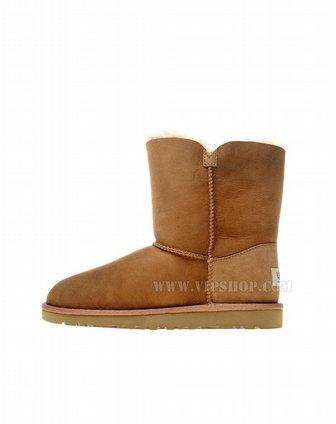 轻奢鞋包专场ugg 儿童纽扣棕色雪地靴200964923384