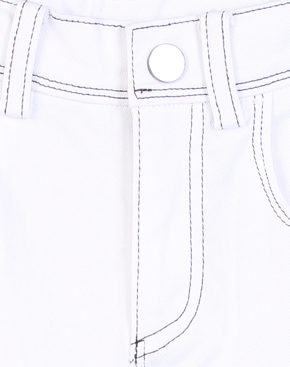 中性白色休闲牛仔裤