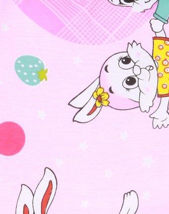 粉色可爱小兔卡通花边儿童枕