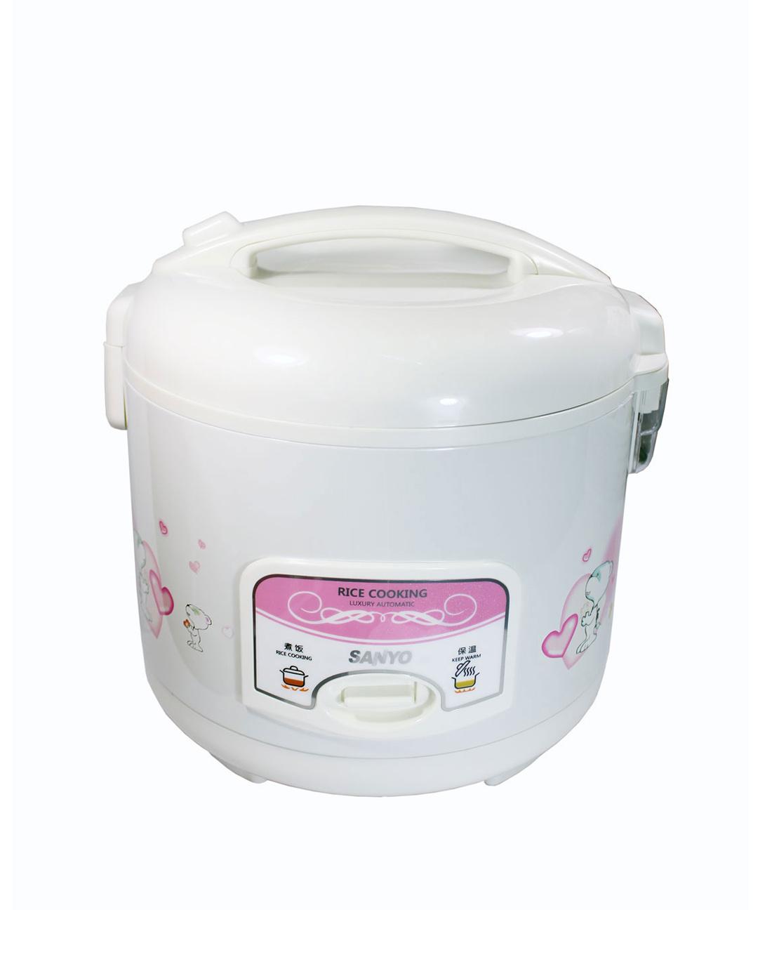 三洋sanyo&灿坤eupa电器微压烹饪白色自动电饭煲4lecj