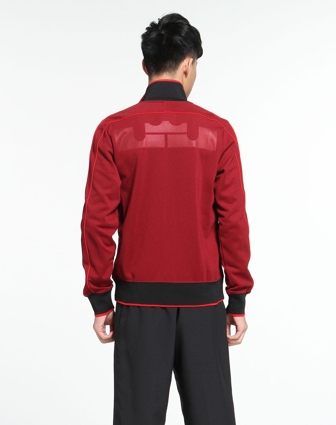 耐克nike深红色长袖针织外套451589-677_唯品会