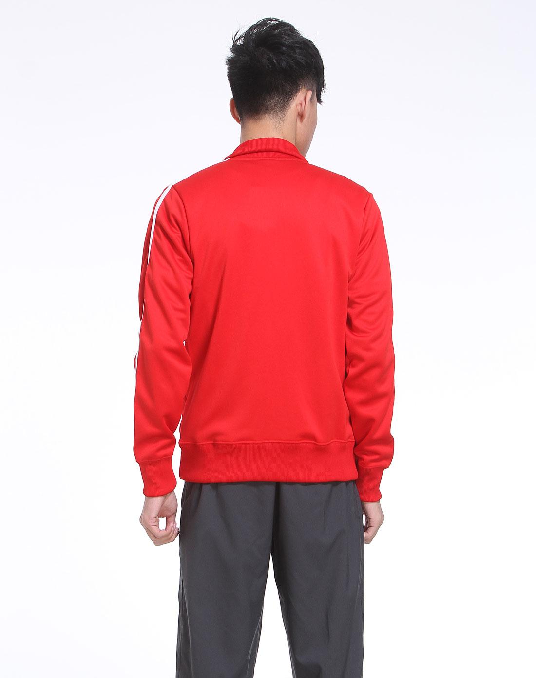 耐克nike男装专场-红色长袖休闲针织外套