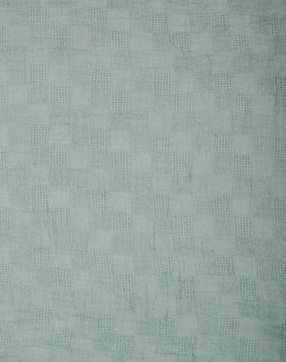 蓝色经典欧式大牌素色格子围巾