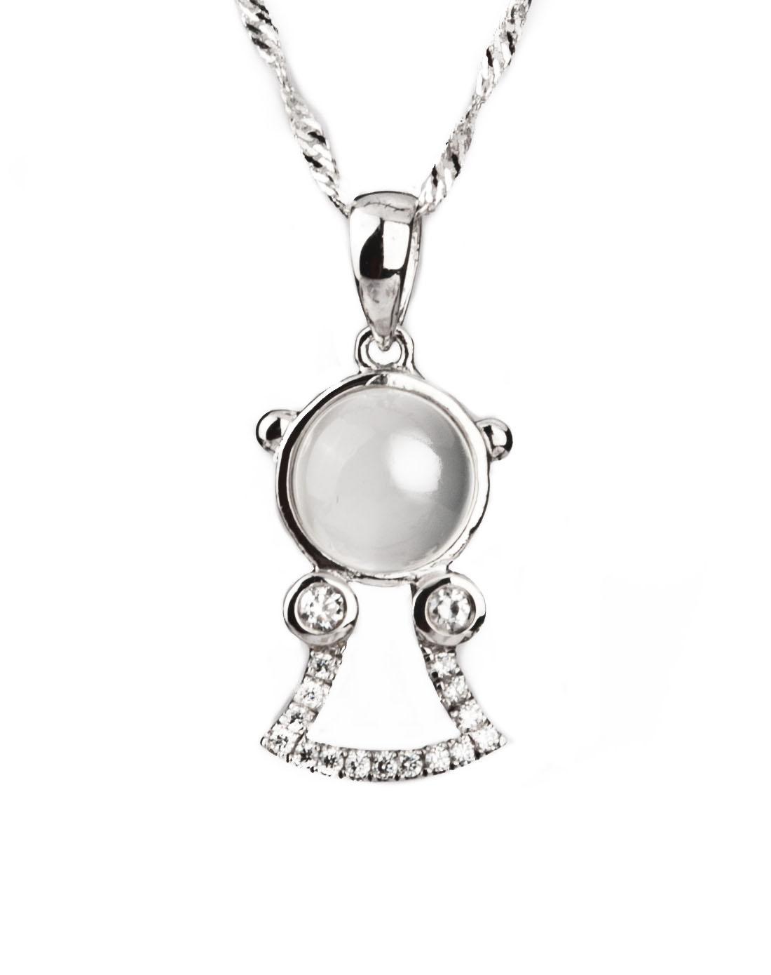 博金珠宝bojin首饰专场月光石吊坠(赠链一条)bj-1
