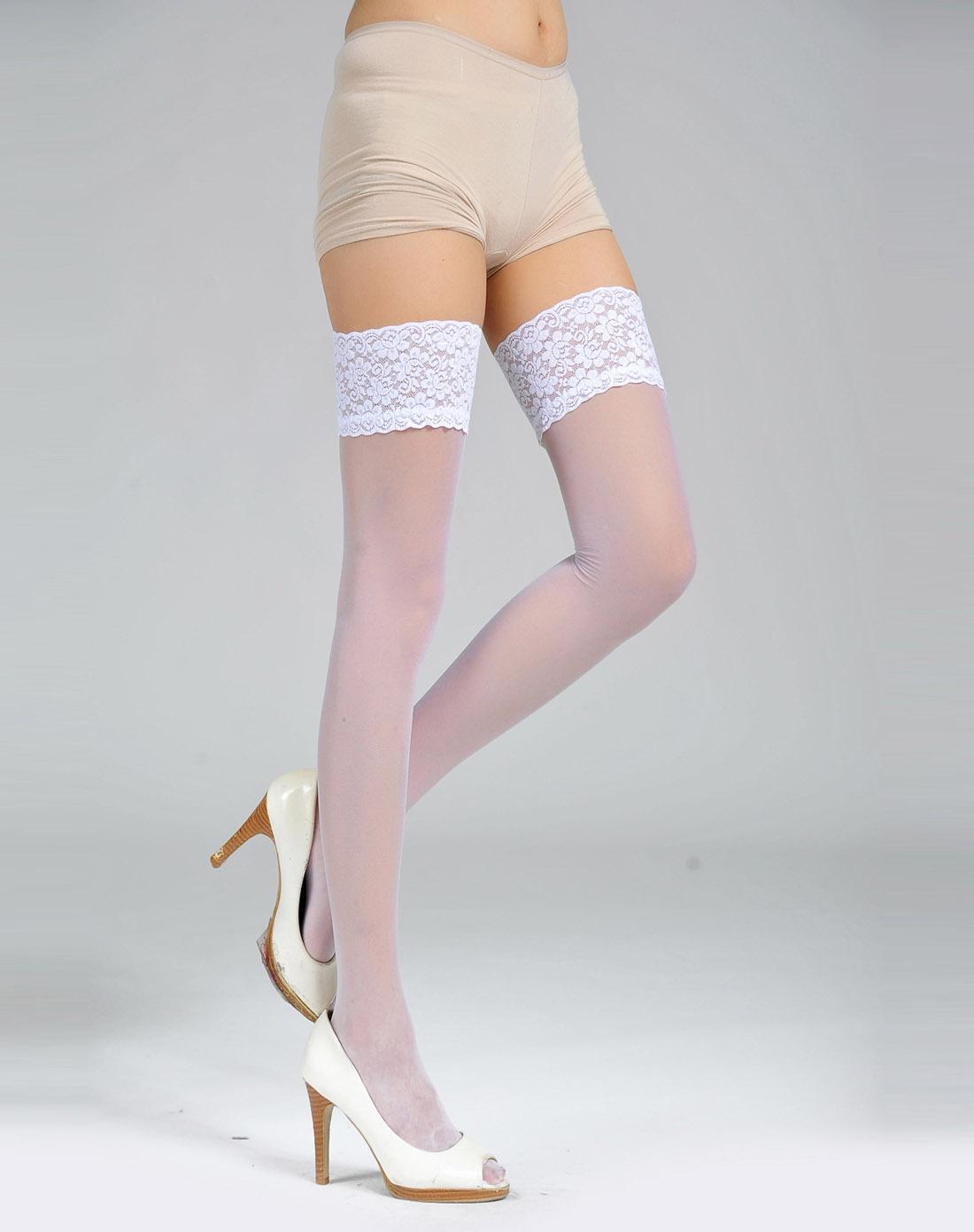 白色意大利优雅高档婚礼款高筒袜
