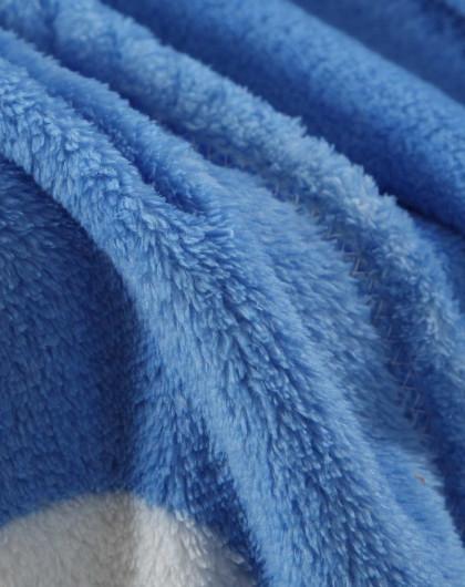 素色珊瑚绒毛毯(蓝色圈圈) 180*200