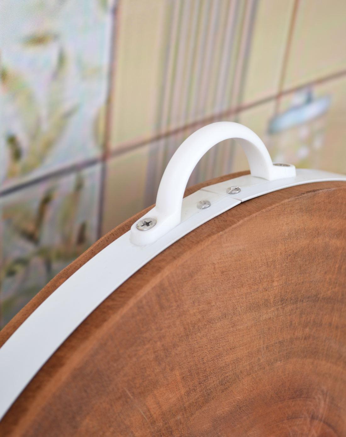 进口金檀木原木砧板(圆)