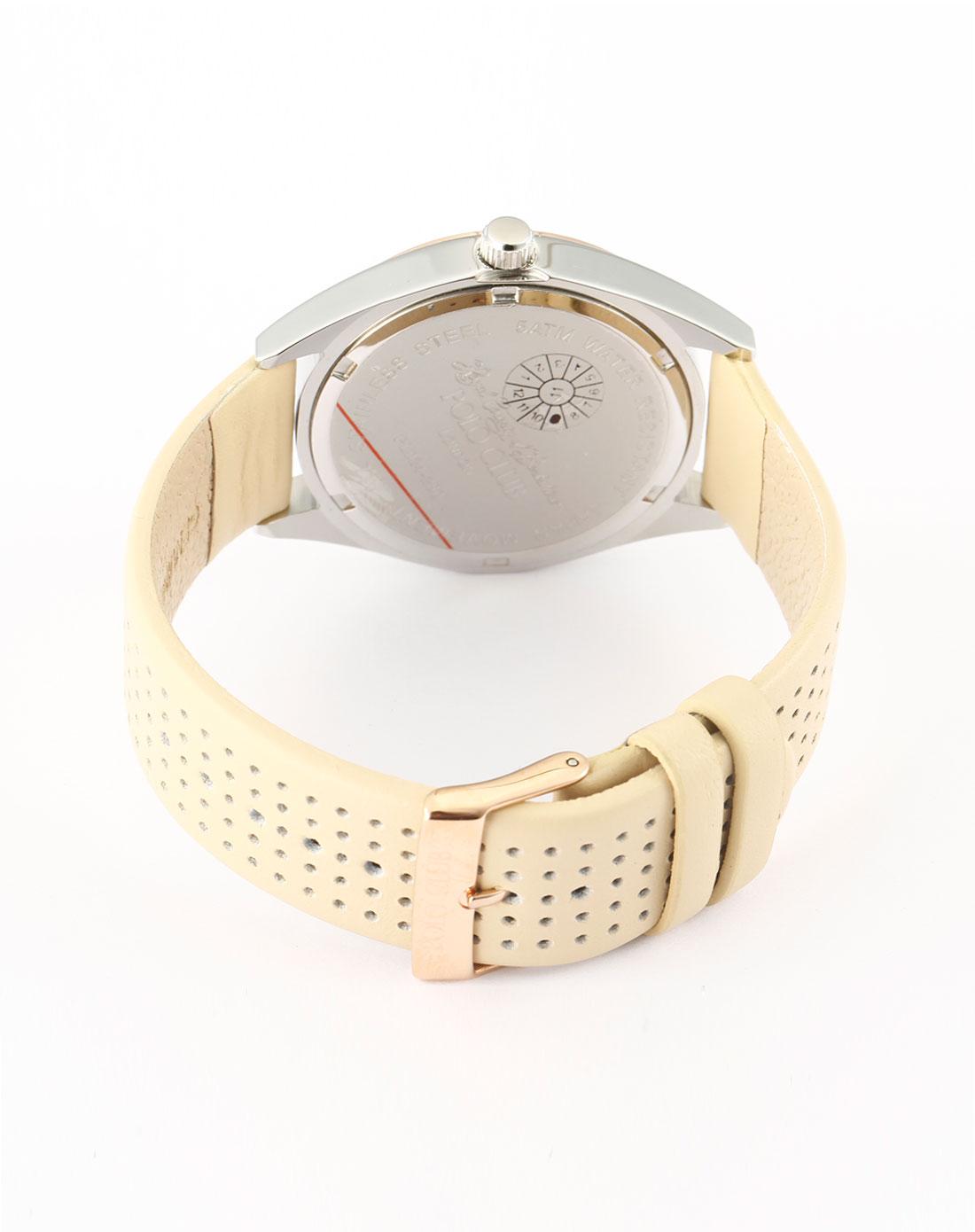 club男款玫瑰金色时尚休闲手表pl024h#-280al