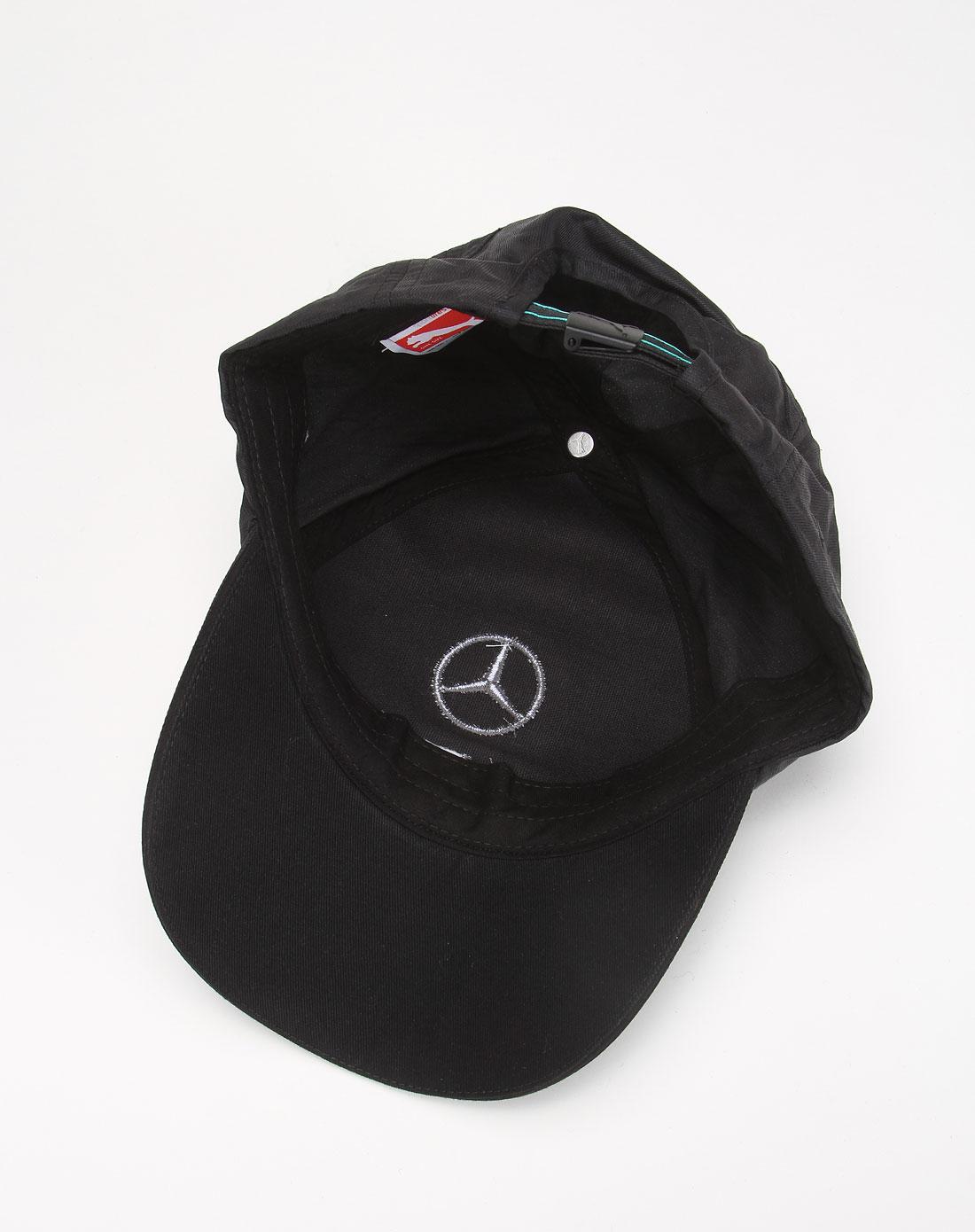 彪马puma男款奔驰赛车系列黑色帽子56418001