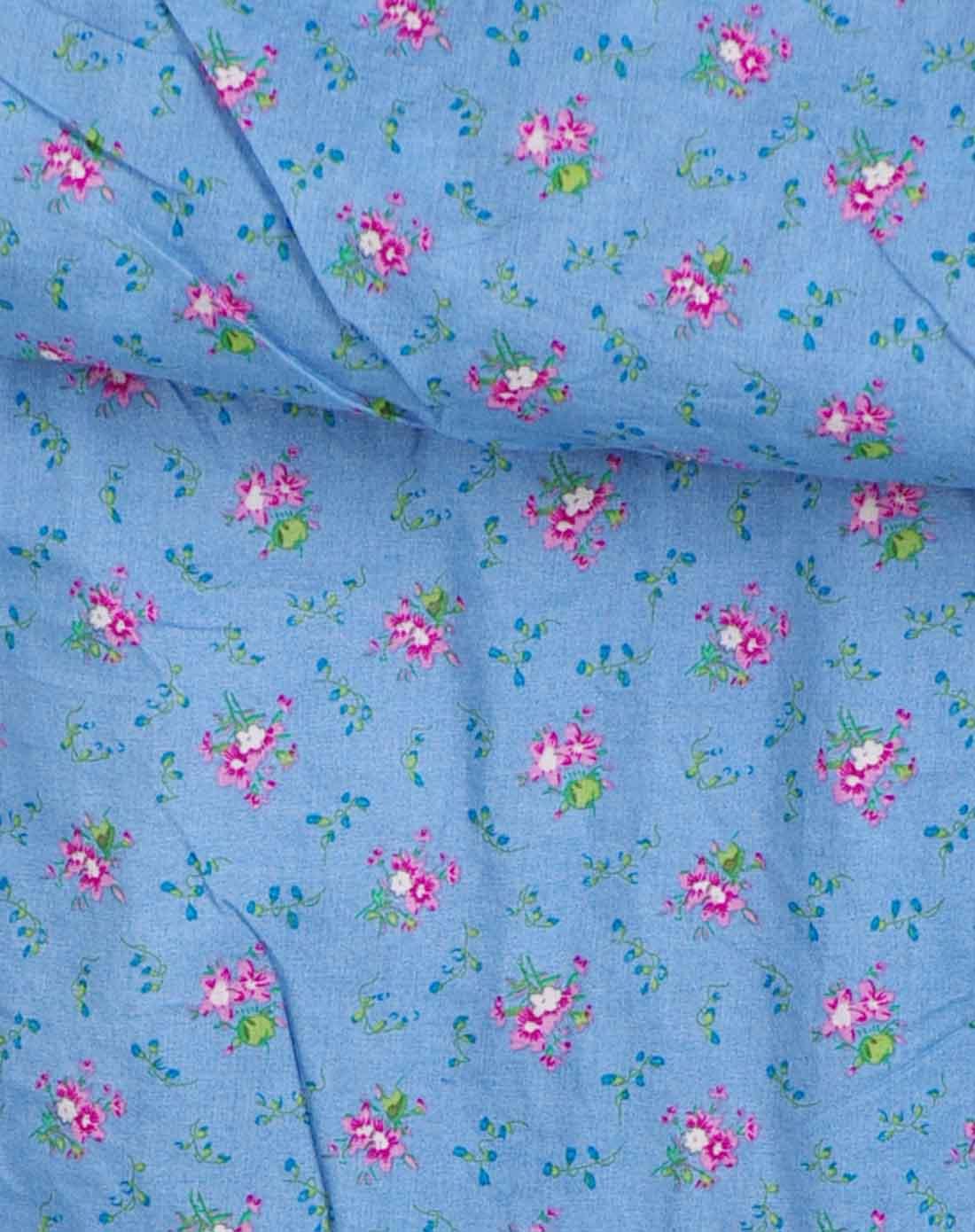 花の衣部落 浅蓝色田园蕾丝布艺拼接围巾