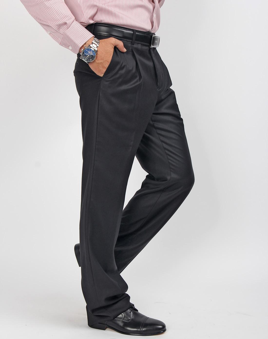 黑色套西装裤子