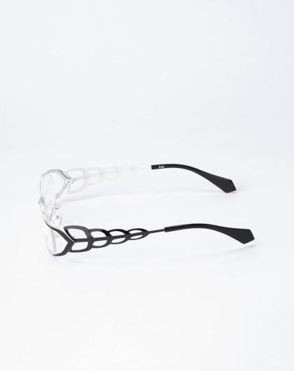 女款金属系列黑-白全框眼镜