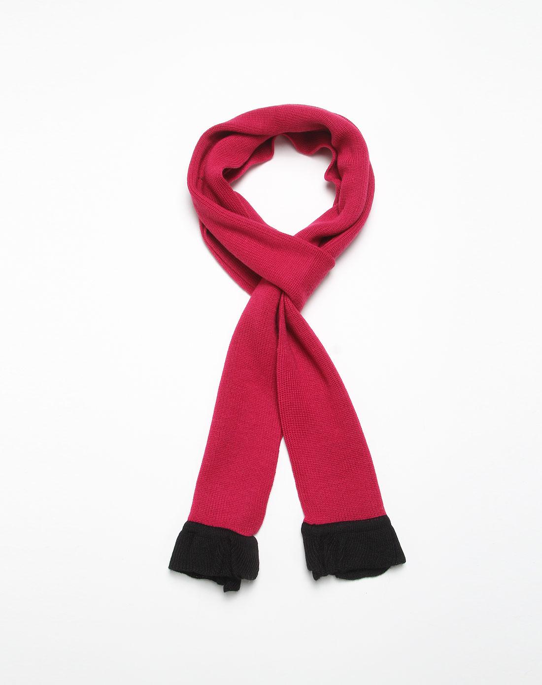 玫红色个性围巾fd0909011-36