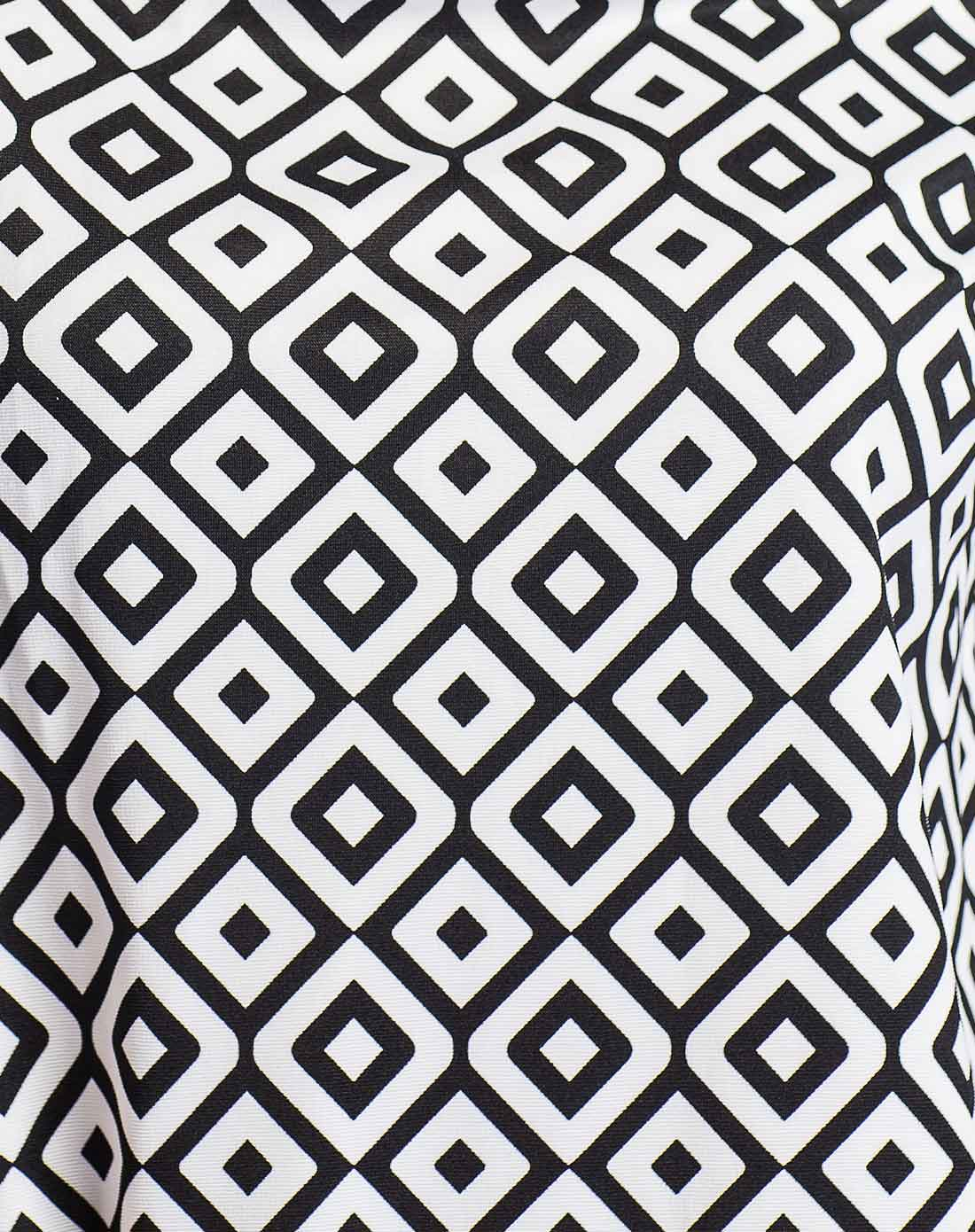 d2c优雅时尚个性花纹长袖连衣裙z00234020555-格子