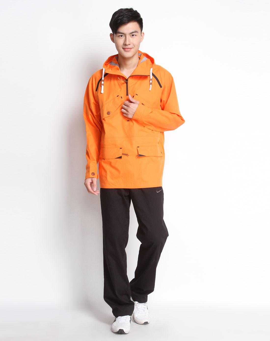 耐克nike 男款连帽橙桔色长袖外套