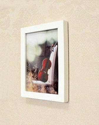 创意实木相框墙9框白原混搭想念画心sm-009