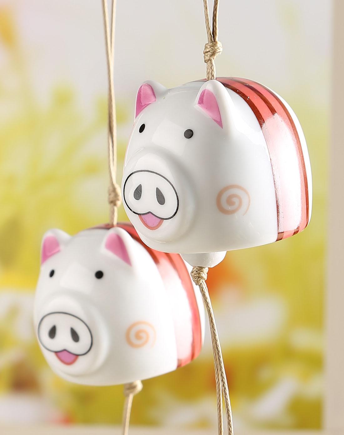 可爱小猪风铃