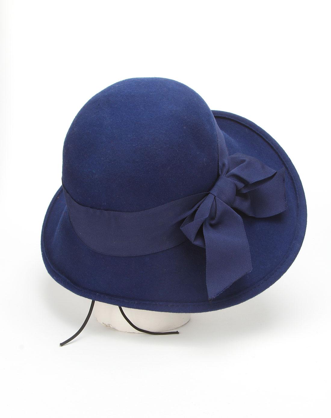 女款炫蓝帽子