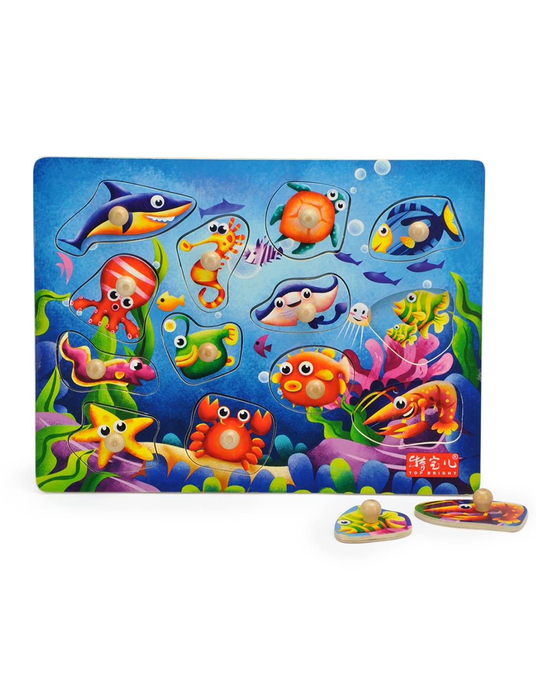 特宝儿海洋动物主题些列抓手拼图