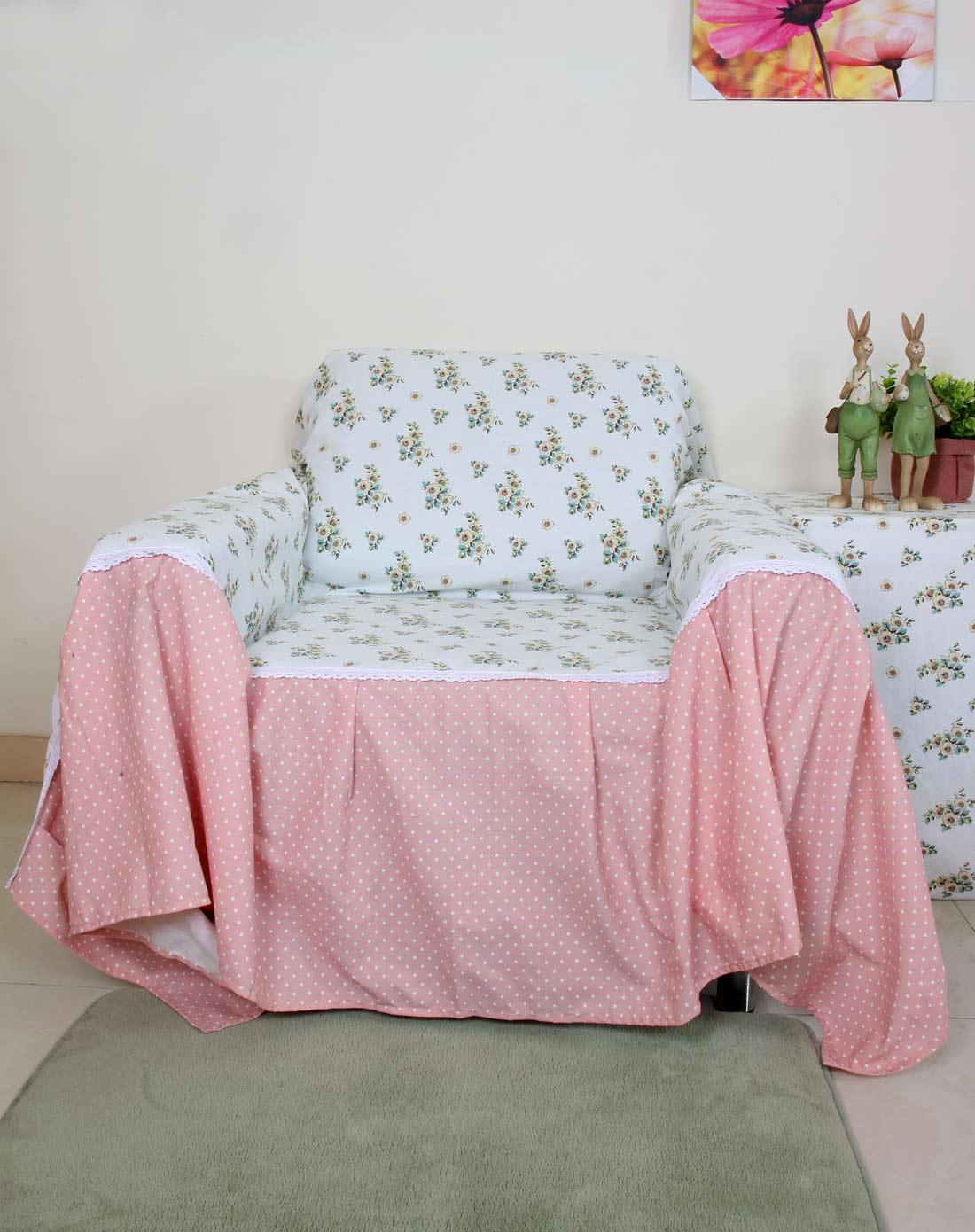 life欧式小花单人沙发罩