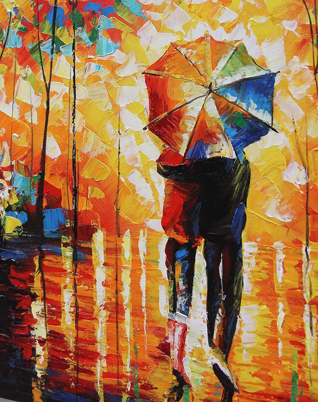 抽象派《绽放的生命》纯手绘油画